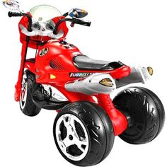Moto Elétrica Infantil Super Moto GT2 Turbo Vermelha 12V - Bandeirante - 2551