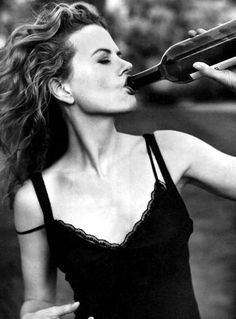 Nicole Kidman ... How every female should drink wine sometimes