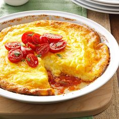 Picante Omelet Pie Recipe -This zippy egg bake is a favorite of one of my daughters. She comes for brunch every week before church, so I serve it often.—Phyllis Carlson, Gardner, Kansas