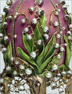 Fabergé Egg. Lilies-of-the-Valley, 1898.  I really think that this is one of the most beautiful things I have ever seen...