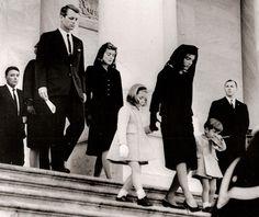 Departing JFK's funeral 1963 ~