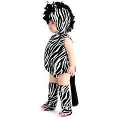 Girls Zaney Zebra Halloween Costume - Infant/Toddler Size