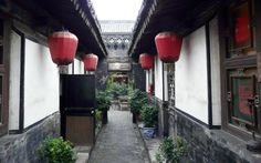 One of the small deserted streets of Pingyao (of which there are many!).