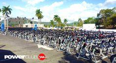Casi listos para la Única #MaratonDeSpinning de #Panama @powerclubpanama en @panamapacifico !! Todavía estás a tiempo de inscribirte !! Hoy Sábado a las 5 PM !!!