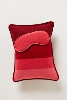 cashmere travel pillow and eye mask