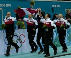 The victory lap in Sochi!  Brad Jacobs Rink. Home town boys!!
