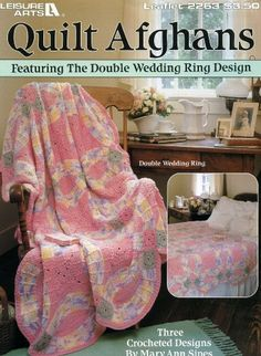 Crocheted Double Wedding Ring afghan Double wedding rings Afghans