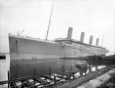 RMS Titanicunder construction at Harland and Wolff Shipyard.Photograph: Robert Welch (1859-1936)