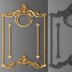 stucco decor frame 3d model