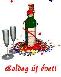 Új évi gif képek - Képtár - G-Portál Evo, Hot Sauce Bottles, Farmer, Happy New Year, Hungary