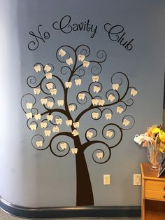 Fun and creative no cavity club tree using our large tooth cutout!