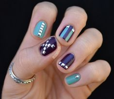Check out this post to see some embellished nail designs. Try to add some details to your nails. You can add some rhinestones, studs, flowers or sparkles.