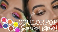 COLOURPOP SUPER SHOCK EXTREME!  Party Talk Swatches & Tutorial
