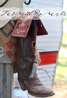 Cute Boot Birdhouse with a car license plate roof  |  http://www.raisingjane.org/journal/22207