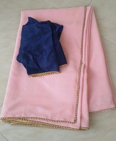 Row silk blouse with shiffon saree