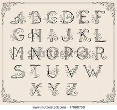 Girly Alphabet Fonts | Swirly Alphabet Letters