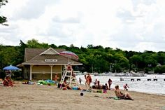 A sunny and tranquil day at Williams Bay Beach on Lake Geneva in #Wisconsin!