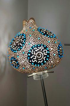 Gourd lamps by jale...   su kabağı lambaları