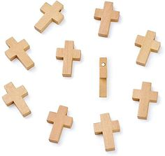 "Amazon.com: Kissitty 50Pcs 7/8"" x 5/9"" Natural Unfinished Wood Cross Pendants Beads 22x14mm for Crafts & DIY Jewelry Projects: Arts, Crafts & Sewing"