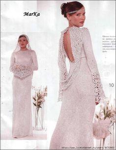 Crochet gold: Crochet dress