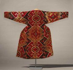 Ikat Coat  Bukhara, Uzbekistan  The Museum of Fine Arts, Boston. Woman's coat (munisak)  Uzbeki, 1850–1900