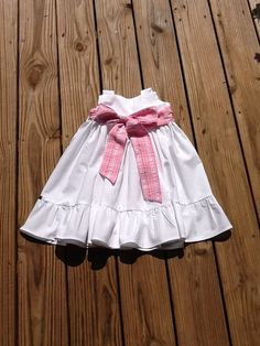 Girls Easter Dress with ruffle detail. Pink by EverythingSorella, $58.50