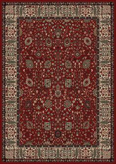 Persian Classics Oriental Vase Red Area Rug