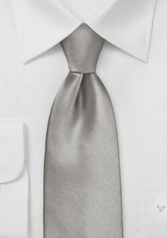 Mikrofaser-Krawatte lang altsilber