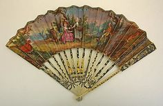 Fan, late 18th century, French, ivory, silk