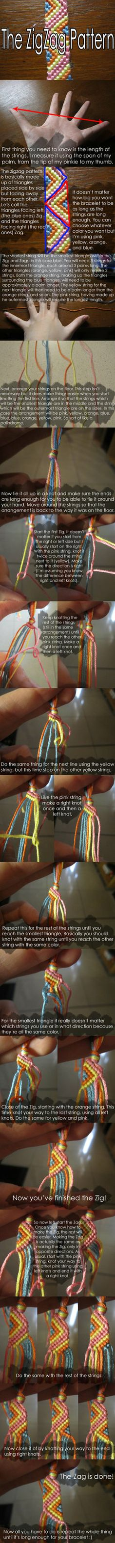 Zigzag Bracelet Tutorial by on deviantART by mvaleriaTutorial: Pop Can Tab BraceletZigzag Bracelet Tutorial always wanted to learn how to do this! by rosellaZigzag Bracelet Tutorial by - most detailed tutorial I've ever seen.Zigzag Bracelet - Made so many Diy Friendship Bracelets Tutorial, Diy Friendship Bracelets Patterns, Diy Bracelets Easy, Summer Bracelets, Bracelet Crafts, Cute Bracelets, Can Tab Bracelet, Kumihimo Bracelet, Macrame Bracelets