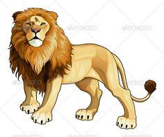 Lion King Cartoon Stock Vector Illustration And Royalty Free Lion King Cartoon Clipart Lion Vector, Vector Art, Vector Stock, Animal Sketches, Animal Drawings, King Cartoon, Animal Silhouette, African Animals, Safari Animals
