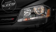 The Blacktop Package for the 2014 Dodge Avenger includes this gloss black grille and these sharp black headlamp bezels. Fuel Efficient Cars, Mid Size Sedan, New Dodge, Dodge Avenger, Chrysler Dodge Jeep, Sport Cars, Muscle Cars, Dream Cars, Avengers