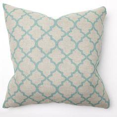 Amazon.com: Tile Turquoise Print Throw Pillow - Set of 2
