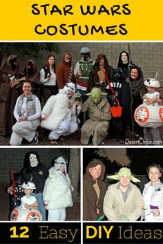 12 DIY Star Wars Costume Ideas including BB-8 from episode VII, The Force Awakens!