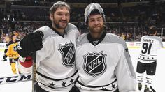 ddbdd0dc3 Braden Holtby and Alex Ovechkin play in the 2017 NHL All-Star Game