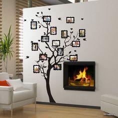 Wandtattoo - Wandaufkleber - Schlanker Baum für fotos (3397n) - ein Designerstück von ARTschablone bei DaWanda