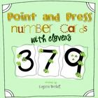 Touch Point Number Cards with Clovers  Numbers 1-9 four cards to a page   These are designed to be printed as personal number cards.  I printed/lam...