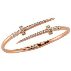 Bee Goddess Sword Hinge Bracelet ($5,320) ❤ liked on Polyvore featuring jewelry, bracelets, 14 karat gold bangle bracelet, bangle bracelet, charm bangle, charm bracelet bangle and sparkle jewelry