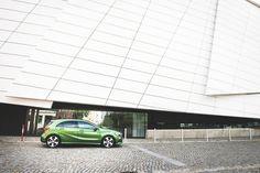 Simply beautiful!  Photo by @xjrlokix  #AClass #Dresden #green by mercedesbenz