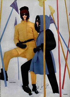ski et snowboard 60s And 70s Fashion, Ski Fashion, Vintage Fashion, Womens Fashion, Vintage Ski, Vintage Ladies, Vintage Travel, Vintage Posters, Winter Trends