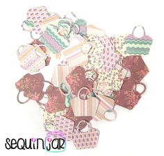 Handbag pattern table party decoration scrapbook craft card confetti shape uk