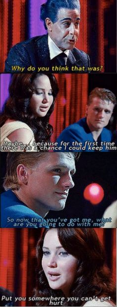 Another quotes that didn't make it into The Hunger Games movie.
