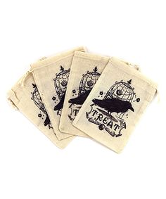 Another great find on #zulily! Vintage Canvas Drawstring Bag - Set of Four by Jolee's Boutique #zulilyfinds