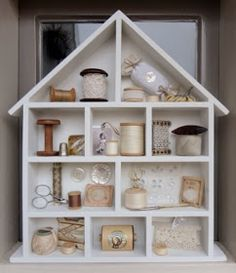 Maison de Poupées Blanc Shadow Room boîte pour l/'affichage de miniatures prêt assemblé