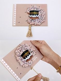Design creative postcard for eid al adha Eid Crafts, Diy And Crafts, Crafts For Kids, Paper Crafts, Eid Mubarek, Eid Al Adha, Aid Adha, Fest Des Fastenbrechens, Eid Stickers