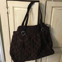 Vera Bradley Large Rich Brown Quilted Bag Vera Bradley Chocolate Brown Large Handbag. In excellent condition. Vera Bradley Bags Satchels