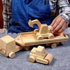 木のおもちゃ・はたらく車トレーラー3点セット おもちゃ・人形 ウッド・スマイル 通販|Creema(クリーマ) ハンドメイド・手作り・クラフト作品の販売サイト Toy Art, Intarsia Wood Patterns, Kids Blocks, Action Toys, Diy Bench, Wood Toys, Wood Crafts, Kids Toys, Projects To Try