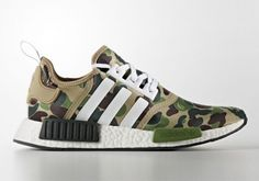 8790fa8e5dac0 See the first pictures and find links to retailers of the upcoming Bape x Adidas  NMD Green Camo right her. Another great sneaker collab.