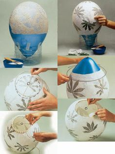 Mom Resolve Repairs and Renovations: HOW TO MAKE A LAMP JAPANESE