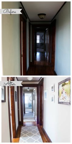 hallway Before and After